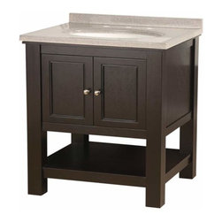 Foremost - Foremost Gazette 24 Inch by 18 Inch Vanity in Espresso Finish, Espresso/Brushed - Foremost Gazette 24 Inch by 18 Inch Vanity in Espresso Finish