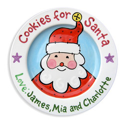 RR - Santa's Cookies from Us Personalized Plate - Santa's Cookies from Us Personalized Plate