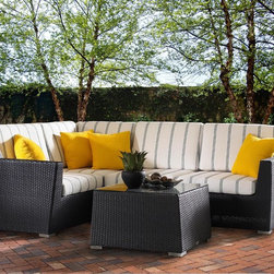 www.essentialsinside.com: maxime 5pc outdoor sectional - **6 months interest-free financing available through PayPal**