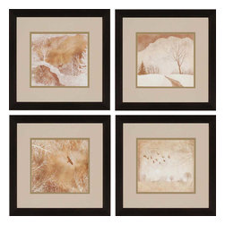 Paragon - Northern Light PK/4 - Framed Art - Each product is custom made upon order so there might be small variations from the picture displayed. No two pieces are exactly alike.