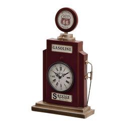 Splendid Metal Table Clock - Description:
