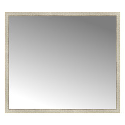 """Posters 2 Prints, LLC - 57"""" x 50"""" Libretto Antique Silver Custom Framed Mirror - 57"""" x 50"""" Custom Framed Mirror made by Posters 2 Prints. Standard glass with unrivaled selection of crafted mirror frames.  Protected with category II safety backing to keep glass fragments together should the mirror be accidentally broken.  Safe arrival guaranteed.  Made in the United States of America"""