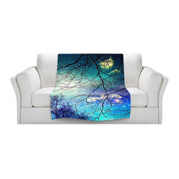DiaNoche Designs - Throw Blanket Fleece - Night Sky - Original Artwork printed to an ultra soft fleece Blanket for a unique look and feel of your living room couch or bedroom space.  DiaNoche Designs uses images from artists all over the world to create Illuminated art, Canvas Art, Sheets, Pillows, Duvets, Blankets and many other items that you can print to.  Every purchase supports an artist!
