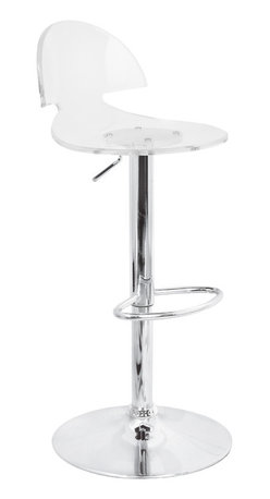 "Lumisource - Venti Bar Stool, Clear - 17"" L x 14"" W x 31 - 38"" H"