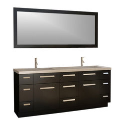 "Design Element - Design Element J72-DS Moscony 72"" Double Sink Vanity Set in Espresso - Design Element J72-DS Moscony 72"" Double Sink Vanity Set in Espresso"