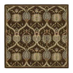 """Kaleen - Kaleen Tara Square Collection 7805-40 7'9""""X7'9"""" Sq. Chocolate - Tara_ is the perfect shape to bring a stylist Caf_ flair to any home or office.  Awesome squares in an incredible selection of sizes. Tara_ is Hand-tufted from the finest 100% Virgin Wool Pile. Hand crafted in India."""