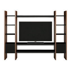 BDI - Semblance Home Theater Package 5423TC, Walnut - BDI's Semblance Home Theater Package isn't just an TV Stand. It is a modular media display and storage system. As your needs change and grow the system can be modified to meet them.