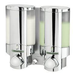 Better Living Products - AVIVA 2-Shower Dispenser - You'll dispense with the pleasantries as soon as you experience this smartly designed soap-and-shampoo dispenser for the shower. It'll be a nice change, compared to what you normally say after dropping the soap.