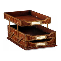 Jonathan Charles - New Jonathan Charles Letter Trays Mahogany - Product Details