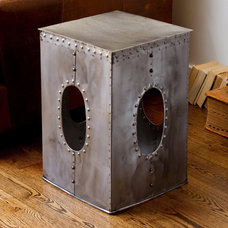 Eclectic Side Tables And End Tables Steel Square Rivet Stool