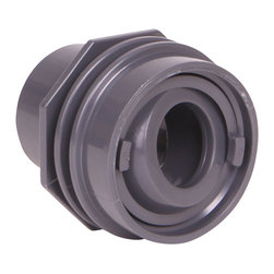 """Color Match Pool Fittings - Flush Mount Return Fitting, Dark Gray - Designed to finish flush with the pool surface and will work with both 1"""" pipe or 1 ½"""" pipe. Includes an adjustable eyeball and Water Barrier Rings to help prevent water leakage. Manufactured from Superior UV-Resistant ABS materials. Proudly made in the USA."""
