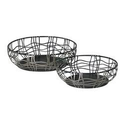 Cyan Design - Suzanne Baskets - Suzanne baskets - silver and bronze