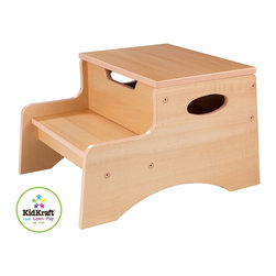 KidKraft - Step 'N Store - Natural by Kidkraft - Our Step 'N Store brings kids one step closer to both independence and hard-to-reach objects. Small enough that it can be kept in any room without taking up too much space, the Step 'N Store is a perfect gift for kids who like to be brave and do as much on their own as possible.