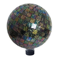 Alpine Fountains - 10 in. Multicolor Mosaic Gazing Globe - Made of Mosaic Glass . 1 Year Limited Warranty. Assembly Required. Overall Dimensions: 10 in. L x 10 in. W x 11 in. H (4.1 lbs)Liven up your outdoors with our amazing gazing globe collection for an enchanting and colorful display. Use them as an accent to your patio or move them out in to the garden to create a perfect centerpiece for your favorite outdoor setting.