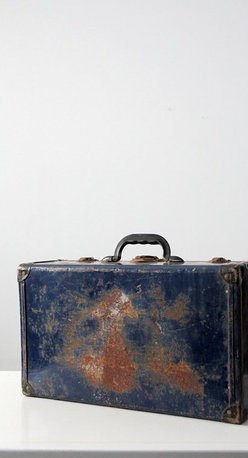 Vintage Metal Luggage / Trunk -