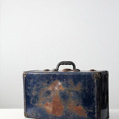 Vintage Metal Luggage / Trunk -