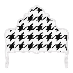 """gLaM-a-PeeL Wall Decal Headboard - """"Ornate Houndstooth"""" - Black & White - Need some """"Pizzazz""""?  Add a bold Black & White houndstooth headboard... eternally chic!"""