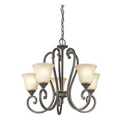 Kichler Lighting - Kichler Lighting 43175OZ Feville 5-Light Traditional Classic Chandelier - Kichler Lighting 43175OZ Feville 5-Light Traditional Classic Chandelier