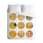 """Modern 100% Polyester Duvet Cover, King 104"""" X 86"""" - Spruce up your bedroom with a little math this season. This gorgeous duvet cover blends geometry and art together to create a graphic masterpiece."""