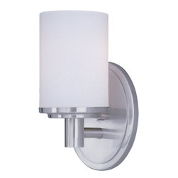 Maxim Lighting - Maxim Lighting 9051Swsn Cylinder 1-Light Bath Vanity - Maxim Lighting 9051SWSN Cylinder 1-Light Bath Vanity