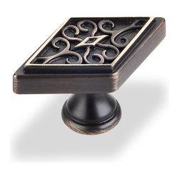Hardware Resources - 561ABSB Marvella Cabinet Knob in Antique Brushed Satin Brass - Marvella Cabinet Knob by Hardware Resources