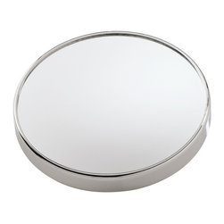 Gedy - Wall Mounted 3x Magnifying Mirror with Suction Cups - If you want a makeup mirror, why not consider this trendy optical mirror from the Gedy Mirrors collection? Perfect for more modern & contemporary settings, this decorative makeup mirror is wall-mount and finished in chrome. Made with the highest quality mirror and metal in Italy by Gedy. This Mirror is ONLY able to mount to glass surfaces. It will not hold up on tile, drywall, etc. Gedy wall-mount optical mirror. From the Mirrors collection. Decorative & luxury, made in mirror and metal and finished in chromed. Manufactured in Italy.