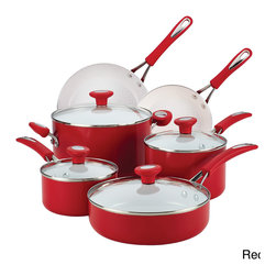 SilverStone - SilverStone Ceramic CXi Nonstick 12-piece Cookware Set - The bold,bright cooking surface is ideal for everything from the simplest dishes to special-occasion favorites,thanks to the exceptional food release and nonstick performance.