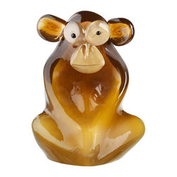 """Kosta Boda - My Wide Life Sculpture Shock the Monkey - Designed by Ludvig Lofgren.  The name """"My Wide Life"""" applies to the fact that Ludvig lives a wide life where he collects his inspiration from...life and everything around him. The jungle has come to Kosta Boda."""