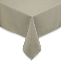 Brownstone Studio Ltd. - Dashweave Tablecloth - This indoor/outdoor tablecloth will provide the perfect base for any meal. Tablecloth is water-repellant so spills bead up for easy cleaning.