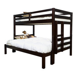 American Woodcrafters - Eco Friendly Twin Over Full Bunk Bed - Bunk Bed Warning. Please read before purchase.. NOTE: ivgStores DOES NOT offer assembly on loft beds or bunk beds. Sturdy and strong. Mortise and tenon joints on ladder and guardrail. Adheres to the latest consumer product safety standards. Recommended upper mattress thickness 6 in.. Complete slat mattress support. Made from pine. Merlot finish. Made in Brazil. Top bunk capacity: 175 lbs.. 57.6 in. L x 81.6 in. W x 61.5 in. H (155 lbs.)Let the Essentials Bunk Bed bring function and space saving style to your room.