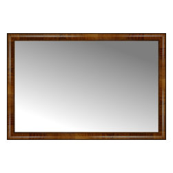 """Posters 2 Prints, LLC - 46"""" x 31"""" Belmont Light Brown Custom Framed Mirror - 46"""" x 31"""" Custom Framed Mirror made by Posters 2 Prints. Standard glass with unrivaled selection of crafted mirror frames.  Protected with category II safety backing to keep glass fragments together should the mirror be accidentally broken.  Safe arrival guaranteed.  Made in the United States of America"""