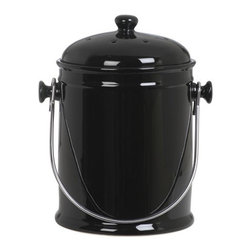Large Compost Pail - Usually I think of countertop compost bins as kind of gross and almost always hideously ugly, but this one has such style and ample odor protection that it's changed my mind.