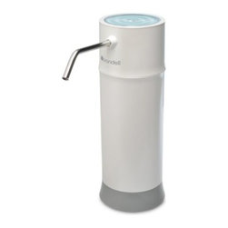Brondell H620 Pearl Countertop Water Dispenser - The Brondell H620 Pearl Countertop Water Dispenser provides an healthy alternative to tapwater providing a clean pure taste. A three-stage UF membrane filter provides continuous filtration protecting you from harmful chemicals pesticides microorganisms and more. Installation is simple and easy thanks to the universal adapter included that attached the unit to 99% of modern faucets. Whether as drinking water or used in cooking you'll find this dispenser a welcome addition to your home. The UF filter needs only be replaced once a year. The unit has been tested and certified by the Water quality organization. The dispenser features a one year limited warranty through the manufacturer. Available as a single unit or a 6-pack Product Specifications: Installation Type: One-hole faucet Mount Type: Countertop Water Type: Cold water dispenser Filter: Three-stage UF filter Minimum Operating Pressure: 10 psi Maximum Operating Pressure: 102 psi Minimum Feed Temperature: 41 degrees F Maximum Feed Temperature: 95 degrees F Rated Service Flow: 0.5 GPM WQA Certified: Yes Weight: 1.8 lbs Height: 11.5 inches Overall dimensions: 3.75W x 3.75D x 11.25H inches About Brondell Inc. Brondell is leading the way as a top developer of innovative bathroom products. This California company created the Swash and Breeza lines of high-tech toilet seats. Brondell toilet and bidet seats offer unparalleled comfort and personal hygiene in environmentally friendly products. The Simple Flush Swash and Breeza lines reflect Brondell's commitment to quality product design. Sleek compact and durable Brondell products deliver comfort and cleanliness setting a new standard for personal hygiene in the bathroom. Brondell products have been taking top honors and getting noticed. Electronic House 2011 placed Brondell as Product of the Year Brondell was in the Top 10 VIP products for 2010 from Good Housekeeping and Popular Science announced Simple Flush as 1 of 12 Must-Have Products.