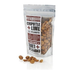 Bee's Knees Chipotle Lime Peanuts - Zesty Mexican flavors of smoky chipotle pepper and tart lime spike this highly seasoned, gourmet snack. The slow build of heat and tang makes them a perfect pairing for margaritas, micheladas or cerveza.