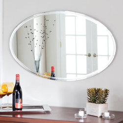 Decor Wonderland - Frameless Marisol Wall Mirror - 39.5W x 23.5H in. Multicolor - SSM1067 - Shop for Bathroom Mirrors from Hayneedle.com! The Frameless Marisol Wall Mirror is just what you need to add depth to a small room. The clean sophisticated design of this oval mirror is sure to add elegance to any wall in your home. Constructed of strong 3/16 glass it features a simple framless border. Mounting hardware is included with the mirror. Weighs 18 pounds. Dimensions: 39.5W x .5D x 23.5H inches.