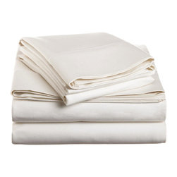 1500 Thread Count Cotton Full White Solid Sheet Set - 1500 Thread Count 100% Cotton - Full White Solid Sheet Set