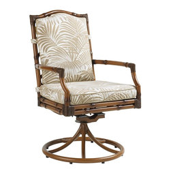 Lexington - Tommy Bahama Island Estate Veranda Swivel Rocker Dining Chair - The swivel rocker is similar to the a host or hostess chair indoors. The easy motion makes it easy to retrieve the next course from the grill or another pitcher of drinks for your guests. Although everyone would love the motion chairs, at a minimum, think two.