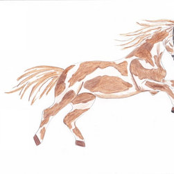 Boys room wall decor - For all of you horselovers out there this vintage pony decal will take you back to a simpler time. See our vintage collection.