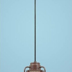 Millennium Lighting - R Series Architectural Bronze 14-Inch Outdoor Cord Pendant - Millennium Lighting?s R-Series RLM fixtures are constructed of cold rolled steel for durability. All painted finishes utilize UV stabilized paint that is baked in high temperature ovens enabling excellent adhesion and weathering properties for harsh outdoor environments. Cord hung shades are damp listed for covered indoor/outdoor use  -Materials: Cold rolled steel, die cast zinc.  -Removable glass guard and inside etched glass included Millennium Lighting - RRRC14-ABR