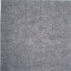 None - Self-stick Grey Carpet Tiles (120 Square Feet) - Give your home a cozy, carpeted look with these easy-to-install tiles.
