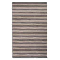 Jaipur Rugs - Flat-Weave Stripe Pattern Wool Gray/Green Area Rug ( 5X8 ) - Bold color is the name of the game with Pura Vida. This beautiful collection of durable, reversible flat-woven dhurries combines the classic simplicity of linear patterns with a decidedly modern palette for a look that's at once casual and sophisticated.