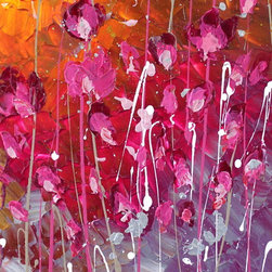 'Pink Beauty' by Preethi Original Large Modern Painting - Painting Name: Pink Beauty