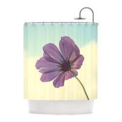 "Kess InHouse - Beth Engel ""Torn But Never Broken"" Purple Flower Shower Curtain - Finally waterproof artwork for the bathroom, otherwise known as our limited edition Kess InHouse shower curtain. This shower curtain is so artistic and inventive, you'd better get used to dropping the soap. We're so lucky to have so many wonderful artists that you'll probably want to order more than one and switch them every season. You're sure to impress your guests with your bathroom gallery in addition to your loveable shower singing."