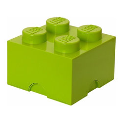 LEGO - LEGO FRIENDS Storage Brick 4, Bright Yellow Green - Let children tidy up with a smile using our Lego Storage Brick 4 in bright yellow green that isn't simply a container - it's also a giant Lego brick that can be used to build oversized Lego creations. Lift off the top to reveal storage space for small toys, regular bricks and building accessories. So, decorate, play, build, form and have fun with the boxes.
