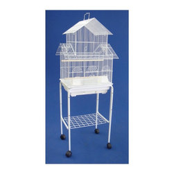 YML Group - YML Peyton Bird Cage with Optional Stand - 5844-4814-BLACK - Shop for Bird Cages and Stands from Hayneedle.com! The attractive pagoda-style Peyton Bird Cage makes a great home for parakeets fiches canaries and lovebirds. It has two feeder cups and two perches so your pet can comfortably sit and stretch its wings. Available in a choice of attractive non-toxic epoxy-baked finishes. Stand with casters is optional.