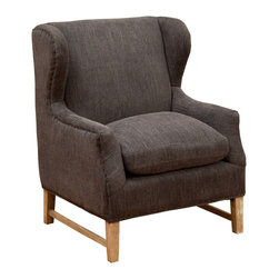 Great Deal Furniture - Mabel Dark Grey Fabric Wingback Arm Chair - The Mabel Wingback Sofa Chair is a great piece for any room in your home. The unique cushion design offers a modern touch of class while still retaining all of the comfort benefits of a sofa chair. With an innovative look and attention to detail this chair is a perfect blend of form and function.