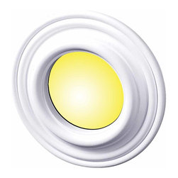 The Renovators Supply - Spot Light Trim White Urethane Recess Light Trim 4 ID x 8 OD | 15446 - Recessed Lighting Trim: Made of virtually indestructible high-density urethane our spotlight rings are cast from steel molds guaranteeing the highest quality on the market. High-precision steel molds provide a higher quality pattern consistency, design clarity and overall strength and durability. Lightweight they are easily installed with no special skills. Unlike plaster or wood urethane is resistant to cracking, warping or peeling.  Factory-primed our spotlight rings are ready for finishing and enhance any ceiling light fixture. 8 inch diameter