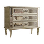 "Hooker Furniture - Hooker Furniture Three Drawer Antique Mirrored Chest - The Three Drawer Antique Mirrored Chest brings prestige to any room. Poplar and Hardwood Solids with Antique Mirror. Dimensions: 42.25""W x 19.25""D x 36.75""H."