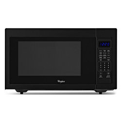 Whirlpool - Whirlpool WMC30516AB Black 1.6 cu. ft. Countertop Microwave - Take the guesswork out of microwave meals. You can cook with confidence,knowing that a built-in sensor monitors the humidity level of food for you,adjusting time and temperature as needed during the cooking process.