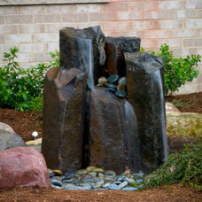 Modern Outdoor Fountains And Ponds by TJB-INC Landscape Contractor